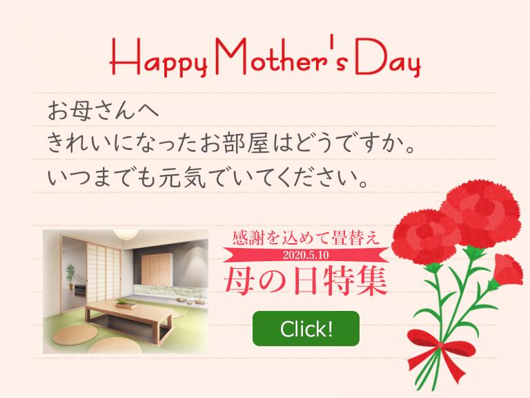 母の日に畳替えを贈りませんか